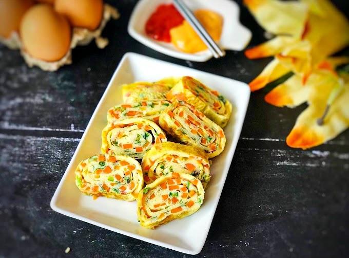 Gyeran Mari/ Korean Rolled Eggs/ Korean Egg Rolls Recipe | Breakfast Care