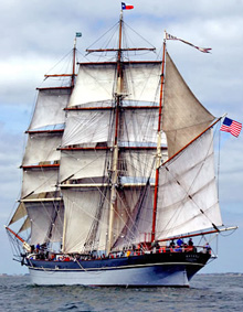 Sailing ship ELISSA- official Texas tall ship
