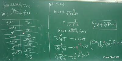 例3-43:應用移位定理的拉氏反轉換
