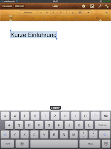 Pages für iPad
