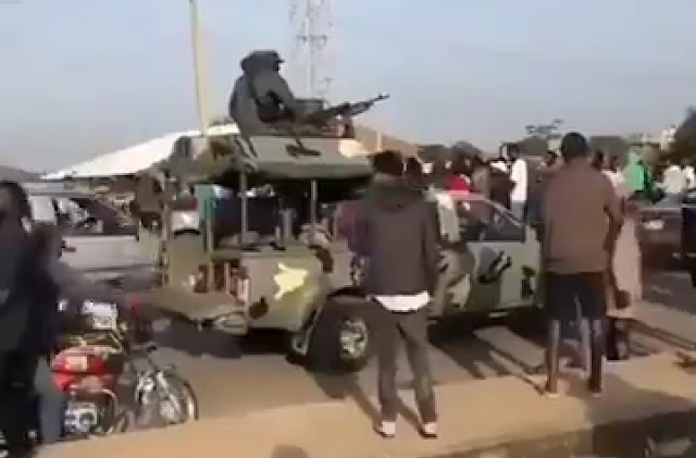 Plateau State Government Sends Soldiers To Secure It's Warehouse Containing Covid-19 Palliatives (Video)