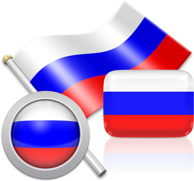 Russian flag icons pictures collection