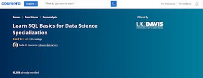 SQL course banner
