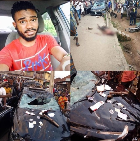 Tragic!!! Suspected Yahoo Boy Beaten To Death By Angry Mob After Killing 5 People In Osun (Photos)