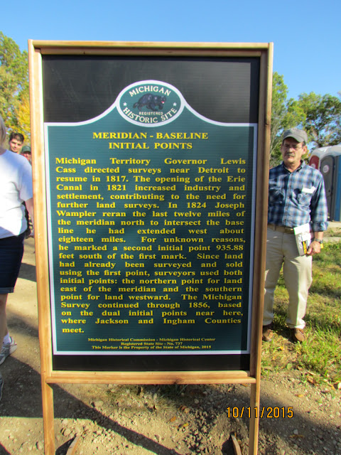 The second side of a marker to be installed permanently.