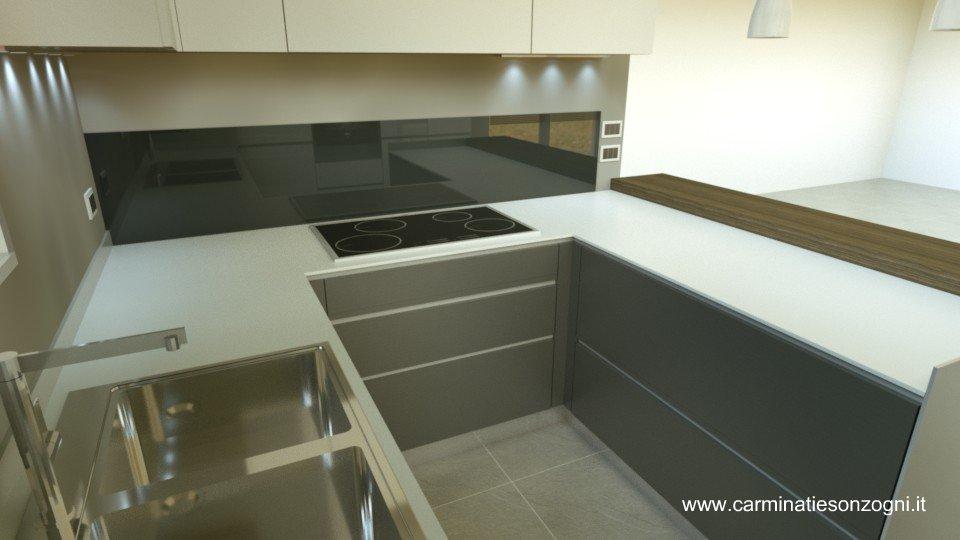 progettazione arredamento con rendering 3d -carminati e sonzogni - Basi Di Cucina