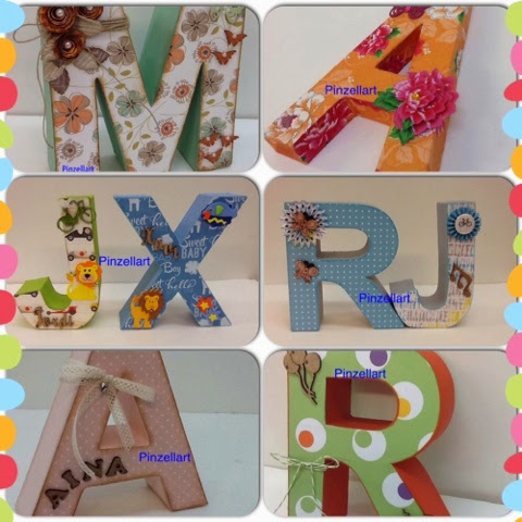 P i n z e l l a r t taller de letras decoradas - Letras decoradas scrap ...