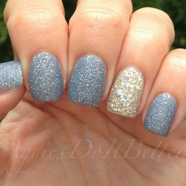 Cinderella Nails: Aggies Do It Better: Zoya Nyx And Cosmo (accidental