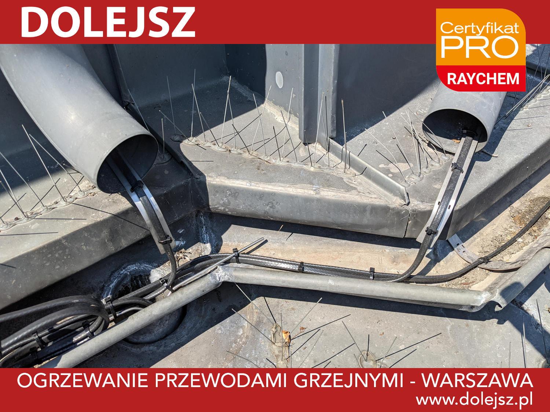 Ogrzewanie rynien montaż Warszawa
