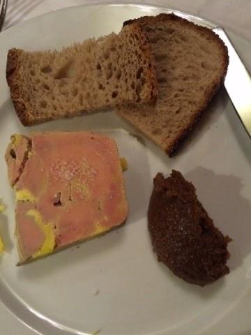 Paris, foie gras and beef cheeks.