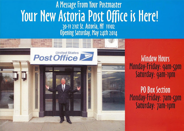 New Astoria Post Office Opening Card