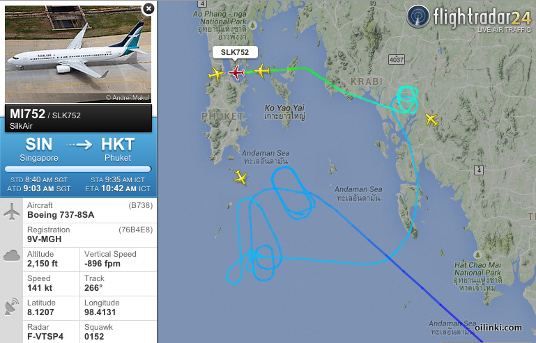 Holding pattern, unable to land to Phuket Airport