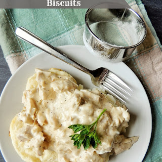 Creamed Turkey Over Biscuits