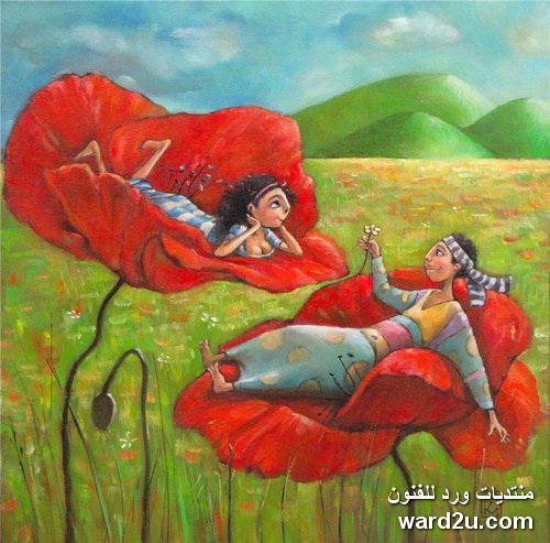 الوان زاهية و احتفالات فى لوحات الفنانة Mariana Kalacheva