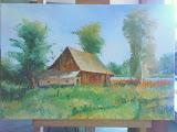 stodoła na Przyrębie, olej, płótno, 40x60cm