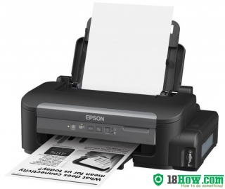 How to reset flashing lights for Epson M105 printer