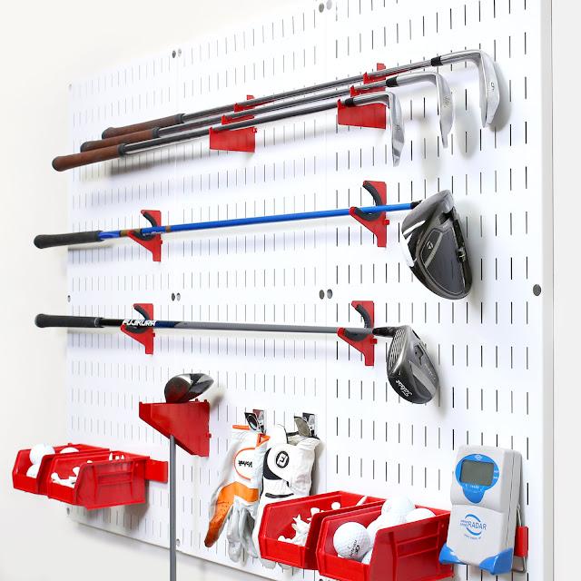 Golf Equipment Storage Set Up