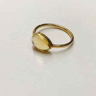 14K Gold & Yellow Stone Ring