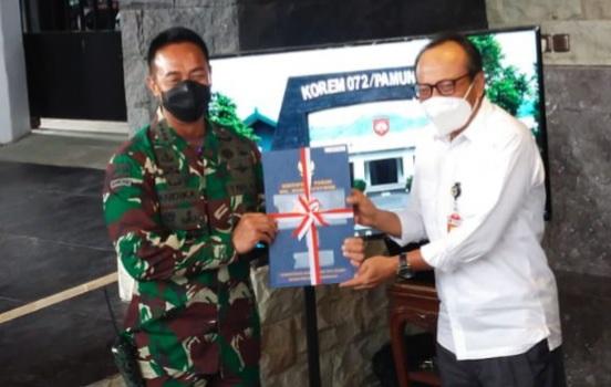 Jenderal Andika Perkasa Kunjungi Korem 072 Pamungkas Yogyakarta