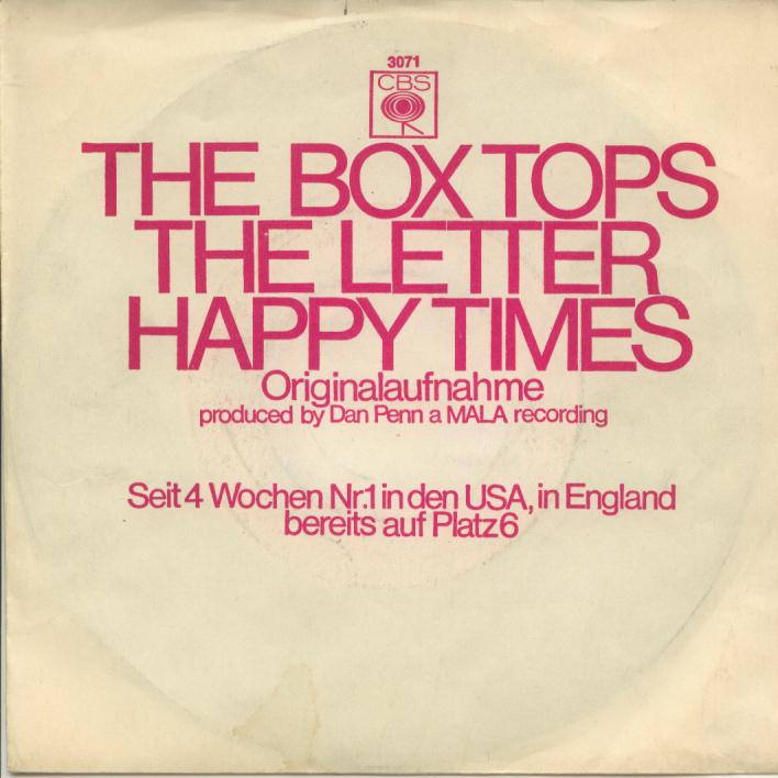 The Box Tops The Letter Happy Times