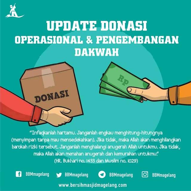 Update Donasi Operasional dan Pengembangan Dakwah Tim Bersih-bersih Masjid Magelang 10 Desember 2018