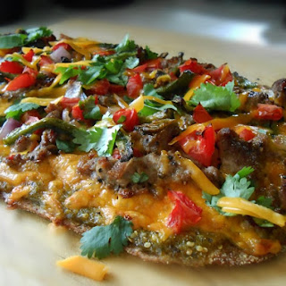 Grilled Mexican Pizza.