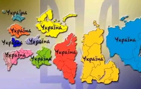 Карта украинской партии