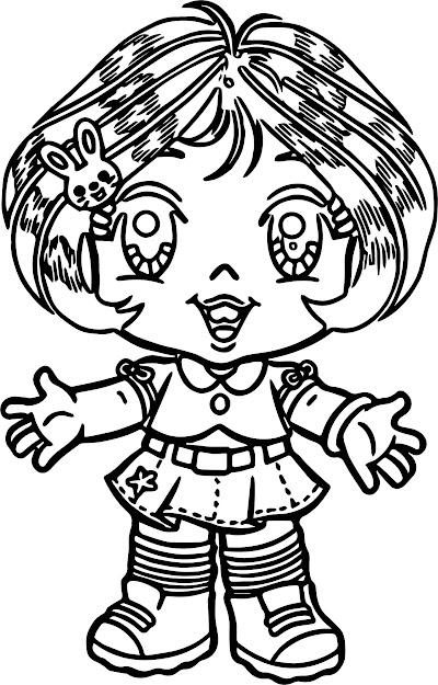 Turma Da Mnica Beautiful Girl Cartoon Coloring Page
