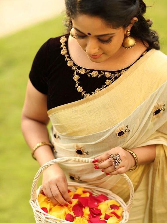 Kavya Madhavan latest hot saree photos | hot curvy shapes body Navel Queens