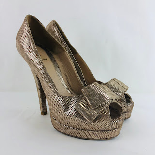 Fendi Metallic Peep Toes