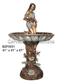 Bronze, Fountain, Shell, Statue, Woman