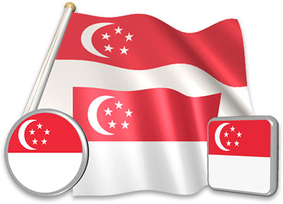 Singaporean flag animated gif collection