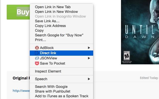 SlickDeals no-redirect link