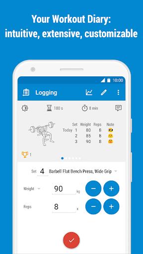 GymRun Workout Log & Fitness Tracker screenshots 1