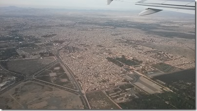 marrakesh from the airplane