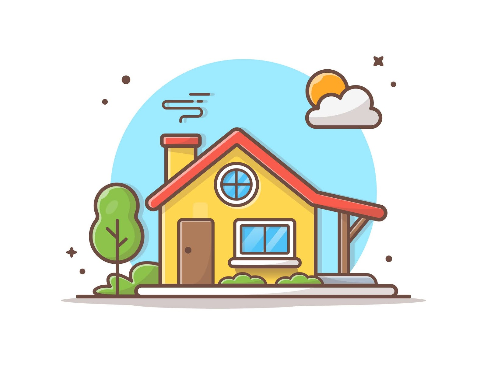 House Building Vector Icon Illustration Free Download Vector CDR, AI, EPS and PNG Formats