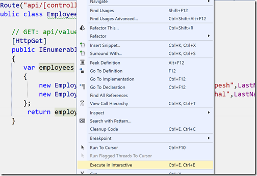 execute-in-intreactive-menu-visual-studio-2015