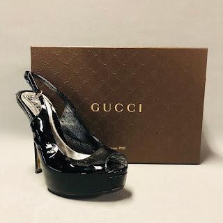 Gucci Patent Leather Slingbacks