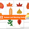 FREE Autumn Leaf Matching Cards and {Learn & Play Link Up}