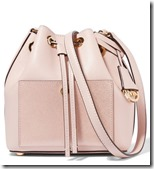 Michael Kors pink metallic panelled bucket bag