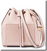 Michael Kors pink metallic panelled bucket bag