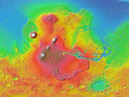 tsunamis criados por impactos de meteoritos no Valle Marineris em Marte