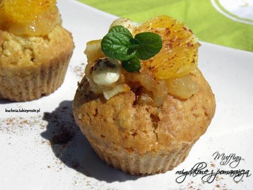 muffinki migdalowe z pomarancza