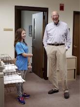 Photo: Kylee & Mr G from the United Way! May 2013.