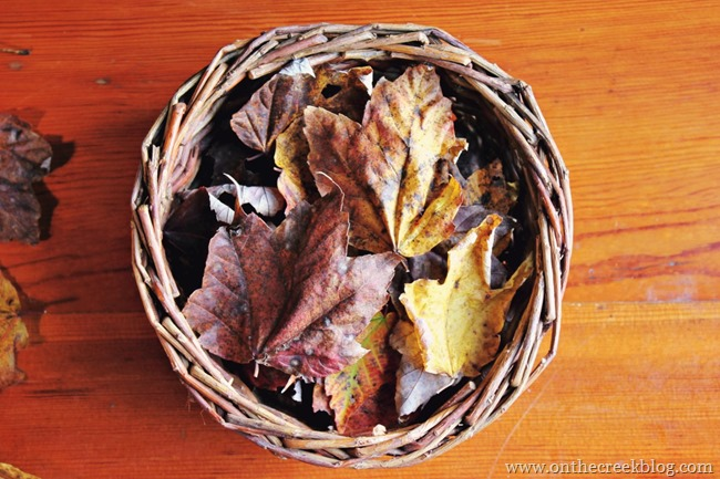 basket fall decor