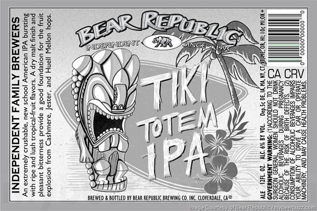 Bear Republic Adding Tiki Totem IPA