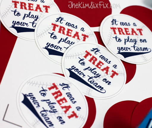 photo about Free Printable Baseball Tags named Rice Krispies Staff members Snacks (with Free of charge Printable Reward Tags