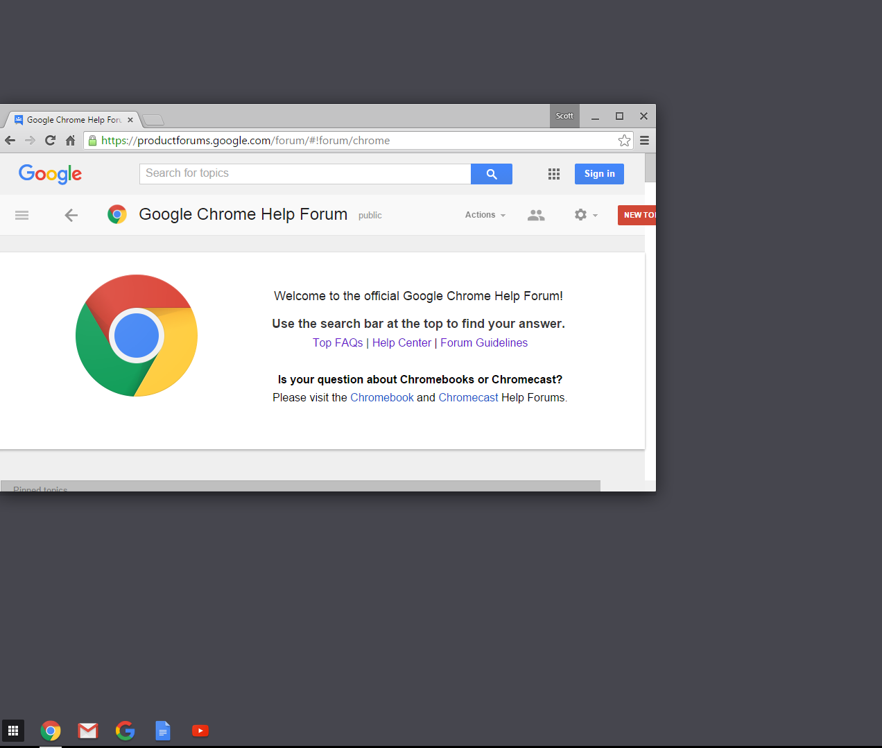 google chrome how to have time set on page