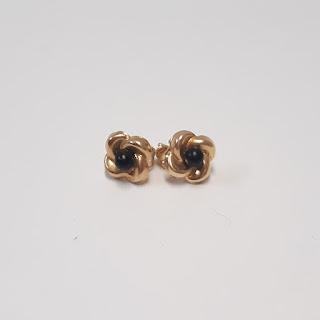 14K Gold Floral Earrings