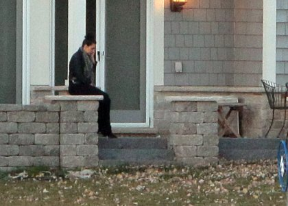 Kim Kardashian Visits Kris Humphries Home